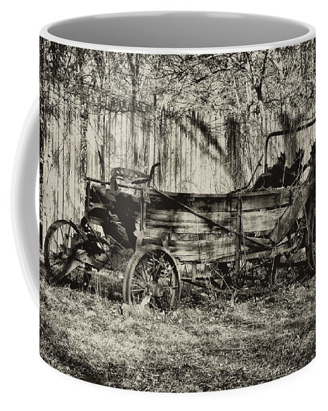 Farm Coffee Mug featuring the photograph Rust Bucket by Bill Cannon