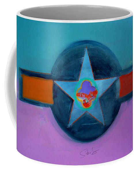 Star Coffee Mug featuring the painting Rust Or Bust by Charles Stuart