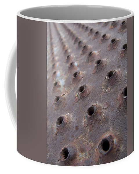 Rust Coffee Mug featuring the photograph Rusted Pattern by Jeffery Ball