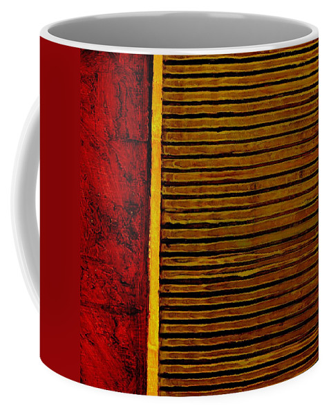 Rustic Coffee Mug featuring the painting Rustic Abstract One by Michelle Calkins