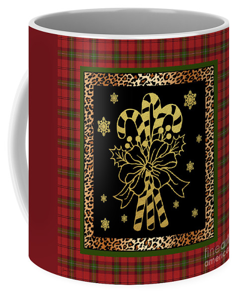 Jean Plout Coffee Mug featuring the painting Rustic Christmas-jp3698 by Jean Plout