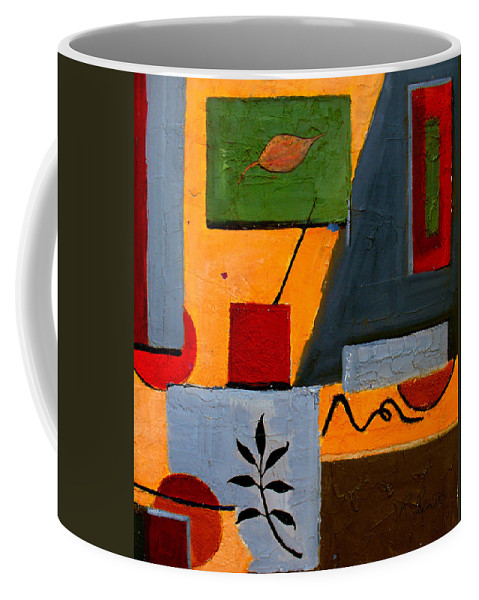 Abstract Coffee Mug featuring the painting Rustic Garden by Ruth Palmer