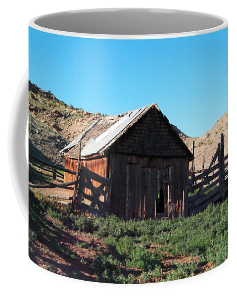 Barns Coffee Mug featuring the photograph Rustic In Colorado by Jeff Swan