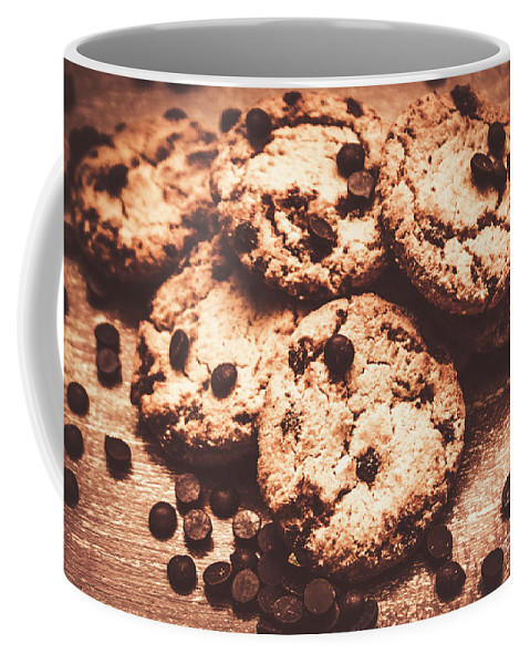 Dessert Coffee Mug featuring the photograph Rustic Kitchen Cookie Art by Jorgo Photography - Wall Art Gallery