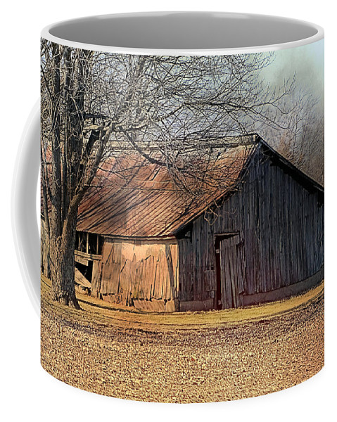 Photography Coffee Mug featuring the photograph Rustic Midwest Barn by Theresa Campbell