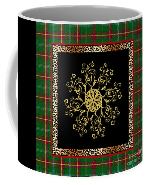 Jjean Plout Coffee Mug featuring the painting Rustic Snowflake-jp3694 by Jean Plout