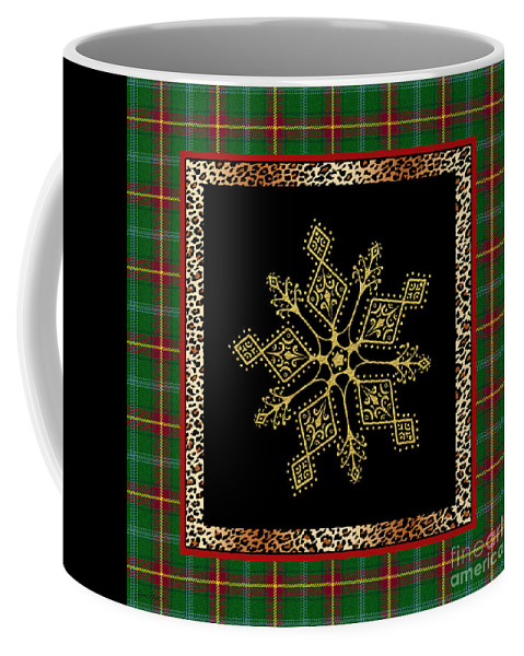Jean Plout Coffee Mug featuring the painting Rustic Snowflake-jp3696 by Jean Plout