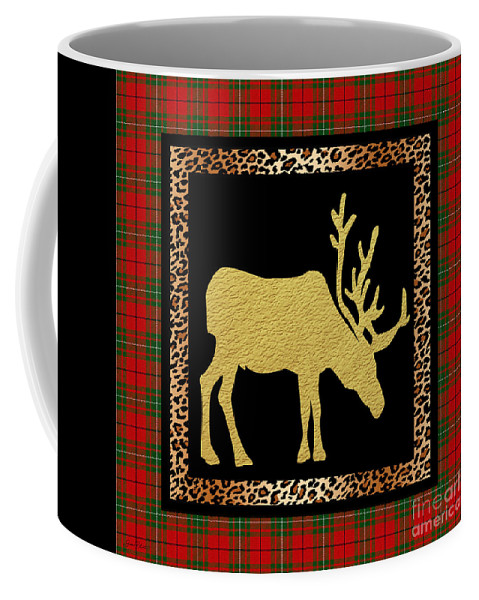 Jean Plout Coffee Mug featuring the painting Rustic Woodland-jp3687 by Jean Plout