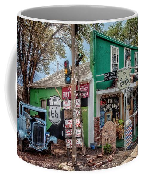 66 Coffee Mug featuring the photograph Rusty Bolt Seligman Az by Diana Powell