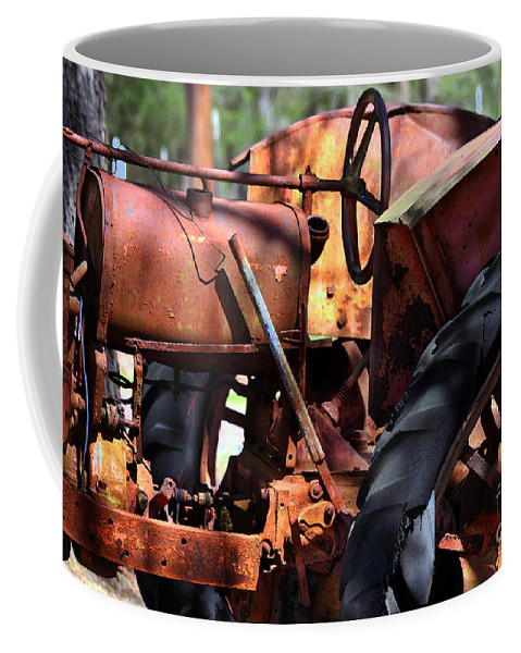 Tractor Coffee Mug featuring the photograph Rusty Tractor by Catherine Sherman