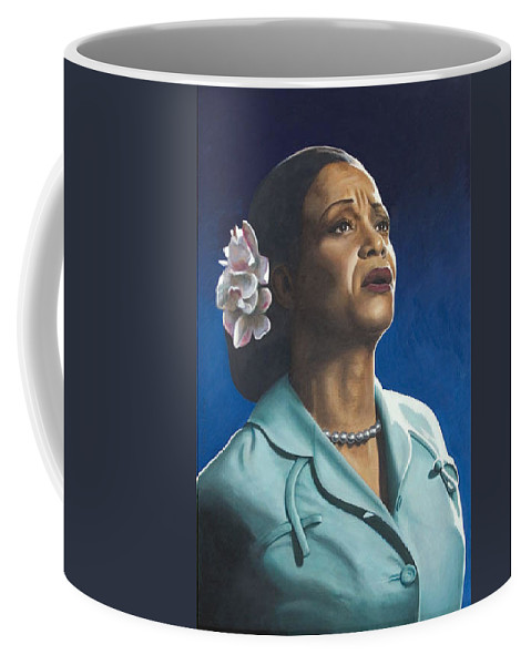 Portrait Coffee Mug featuring the painting Ruth Jacott by Rob De Vries