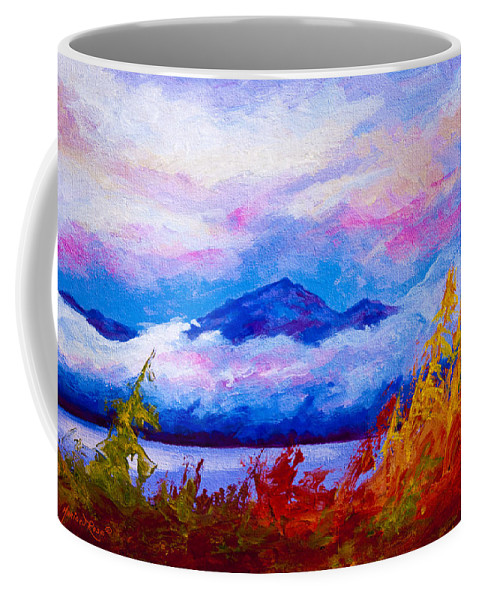 Alaska Coffee Mug featuring the painting Rythmn Of The Arctic by Marion Rose