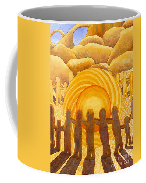 Chakra Coffee Mug featuring the painting Sacral Chakra by Catherine G McElroy