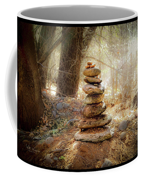 Totem Coffee Mug featuring the photograph Sacred Cairn by Will Wagner