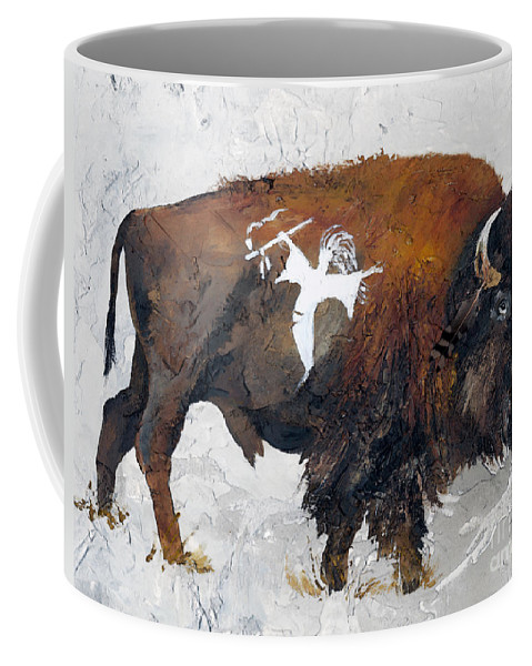 Southwest Art Coffee Mug featuring the painting Sacred Gift by J W Baker