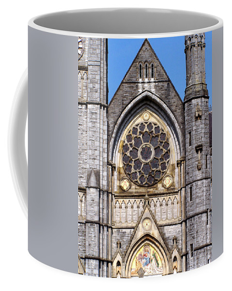 Ireland Coffee Mug featuring the photograph Sacred Heart Church Detail Roscommon Ireland by Teresa Mucha