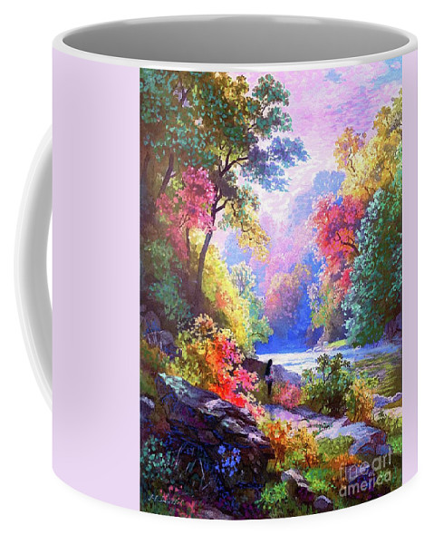 Meditation Coffee Mug featuring the painting Sacred Landscape Meditation by Jane Small