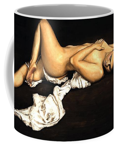 Nude Coffee Mug featuring the painting Sacred by Richard Young