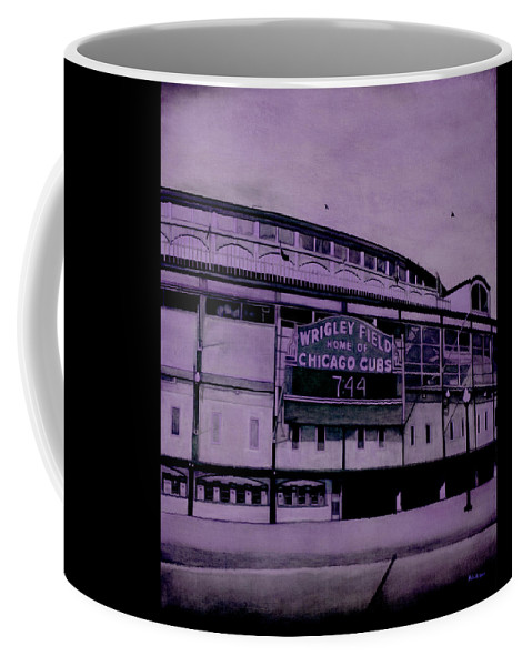 Wrigley Field Coffee Mug featuring the painting Sacred Spaces 3 by Joe Michelli
