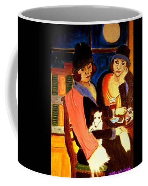 1920s Coffee Mug featuring the painting Sad Cafe by Rusty Gladdish