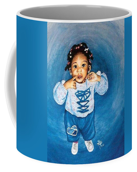 Child Coffee Mug featuring the pastel Sadie by Gale Cochran-Smith