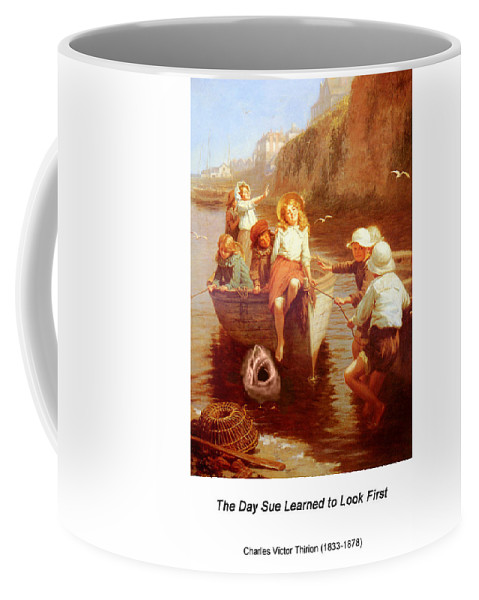 Altered Art Coffee Mug featuring the digital art Safely Home by John Saunders
