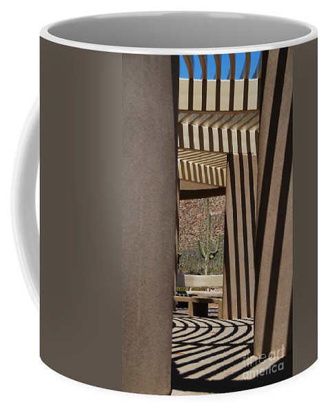 Architecture Coffee Mug featuring the photograph Saguaro National Park by Lois Bryan