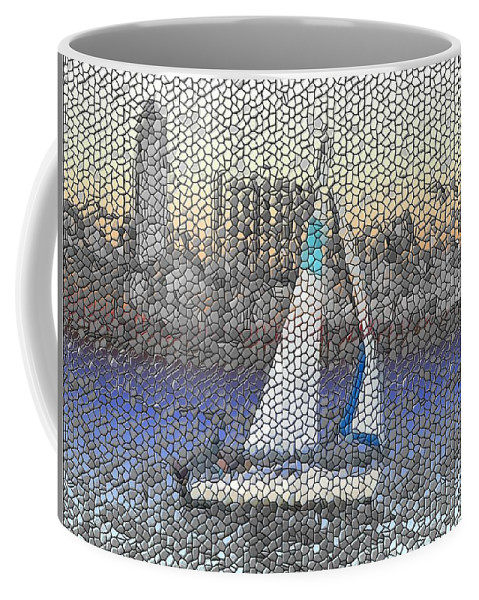 Sail Coffee Mug featuring the photograph Sail At Sunset by Tim Allen