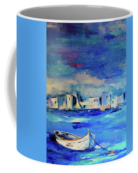 Seascape Coffee Mug featuring the painting Sail Away by Elise Palmigiani