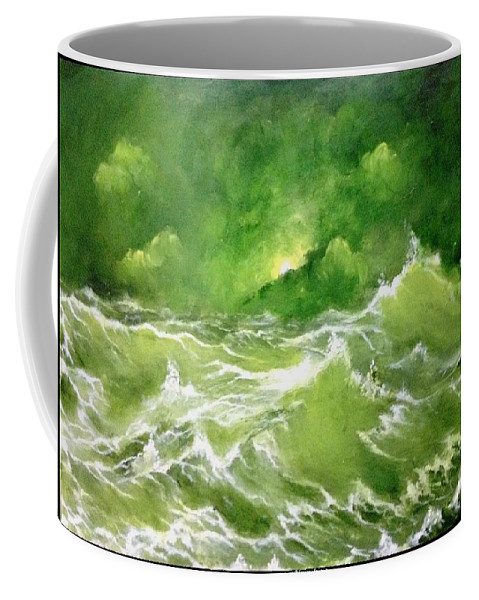 Coffee Mug featuring the painting Sail Away With Me by Trinath Sen