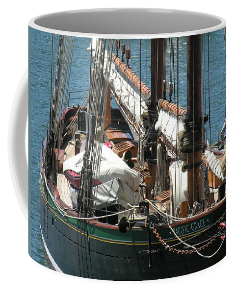 Boat Coffee Mug featuring the photograph Sail Boat by Diane Greco-Lesser