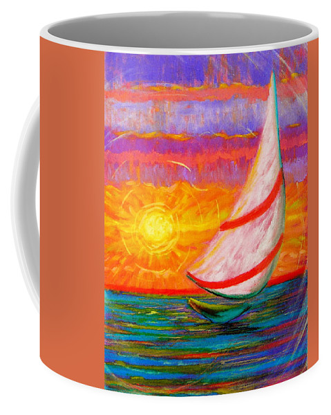 Sailboat Coffee Mug featuring the painting Sailaway by Jeanette Jarmon