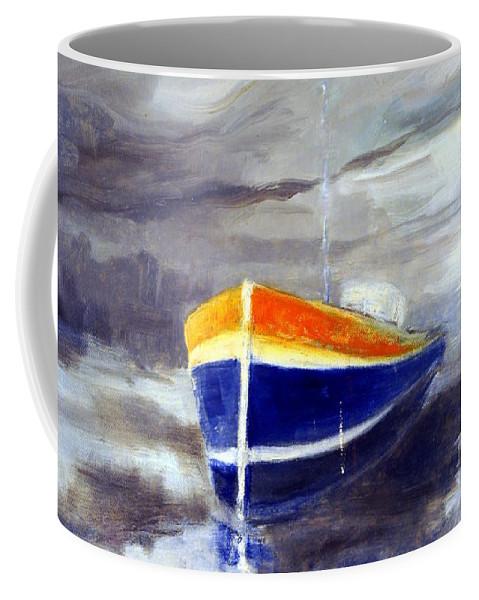 Australia Coffee Mug featuring the painting Sailboat 1.0 by Giro Tavitian
