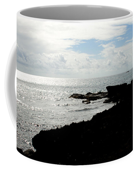 Sailboat Coffee Mug featuring the photograph Sailboat At Point by Jean Macaluso