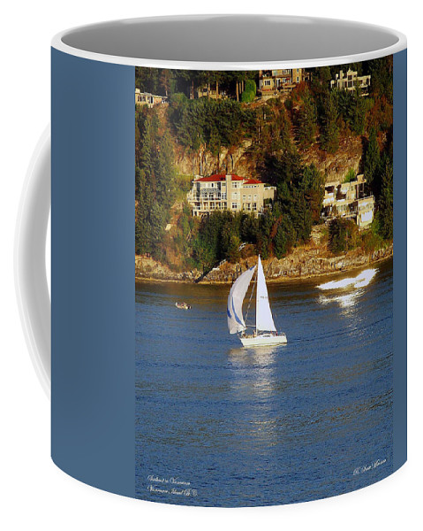 Sailboat Coffee Mug featuring the photograph Sailboat In Vancouver by Robert Meanor