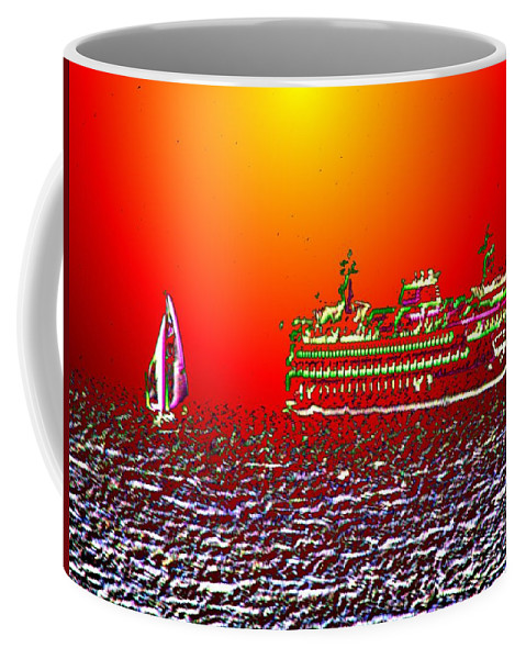 Sail Coffee Mug featuring the photograph Sailin The Sound by Tim Allen