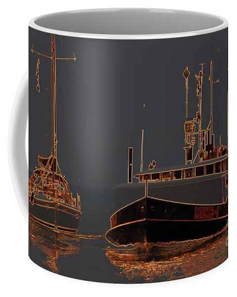 Bayfield Coffee Mug featuring the photograph Sailing And Fishing 2 by John Scatcherd