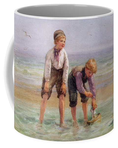Sailing Coffee Mug featuring the painting Sailing Boats by Edith Hume