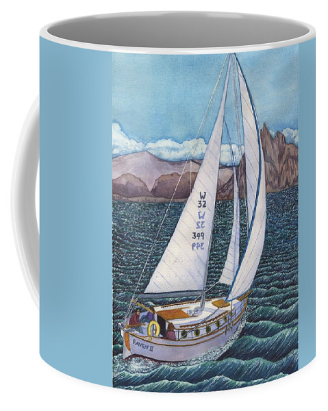 Sailboat Coffee Mug featuring the painting Sailing by Catherine G McElroy