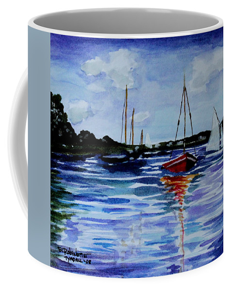 Sailing Coffee Mug featuring the painting Sailing Day by Elizabeth Robinette Tyndall