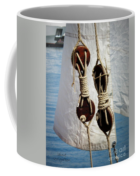 Sailing Coffee Mug featuring the photograph Sailing Dories 2 by Lainie Wrightson