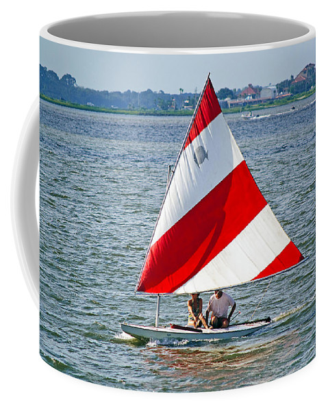 Sailboat Coffee Mug featuring the photograph Sailing by Kenneth Albin