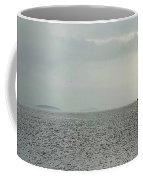 Storm Coffee Mug featuring the photograph Sailing Out Of The Storm by Jamie White