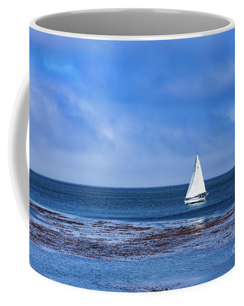 Sailboat Coffee Mug featuring the photograph Sailing The Ocean Blue by Lisa Lemmons-Powers