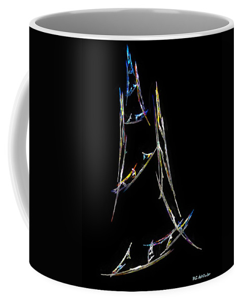 Abstract Coffee Mug featuring the digital art Sailing The South China Sea by RC DeWinter