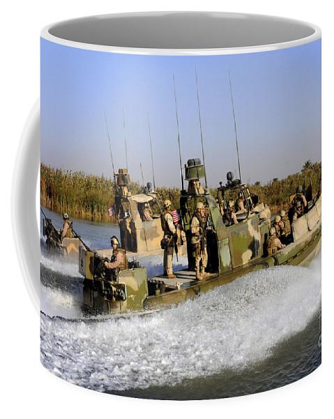Iraq Coffee Mug featuring the photograph Sailors Racing Along The Euphrates by Stocktrek Images