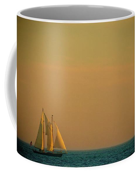 Boat Coffee Mug featuring the photograph Sails by Sebastian Musial