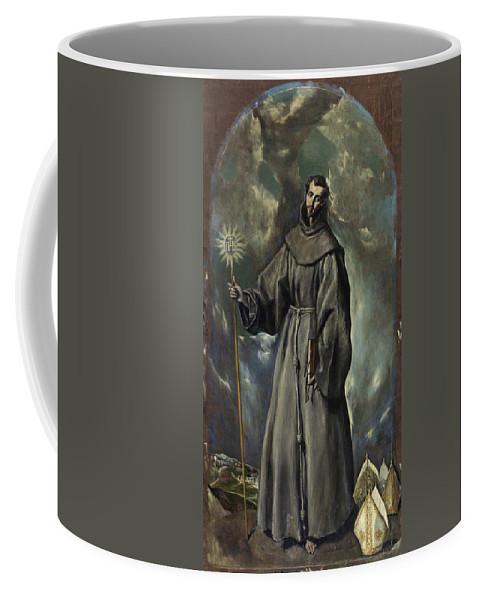 Bernard Coffee Mug featuring the painting Saint Bernard by El Greco