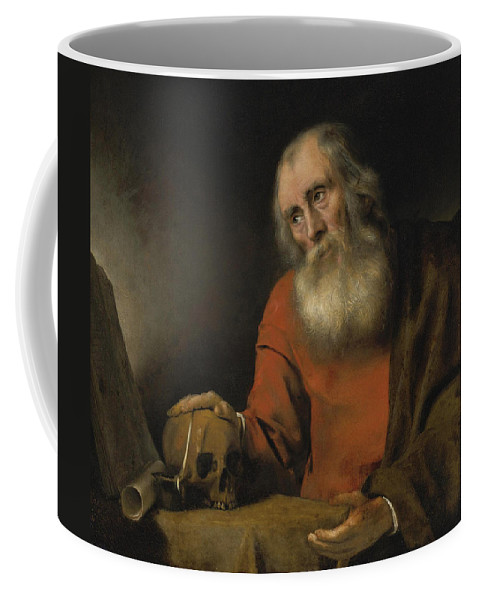 Abraham Van Dijck Coffee Mug featuring the painting Saint Jerome by Abraham van Dijck