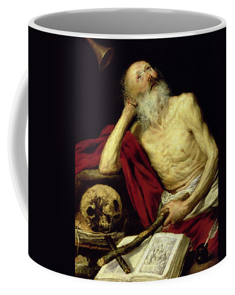 Jerome Coffee Mug featuring the painting Saint Jerome by Antonio Pereda y Salgado